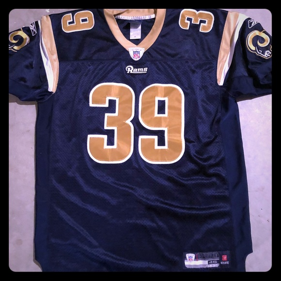 promo code a4c70 0cef0 Steven Jackson Rams Reebok Jersey Stitched
